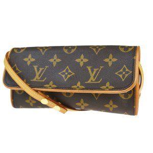 LOUIS VUITTON POCHETTE TWIN PM Shoulder Clutch Bag